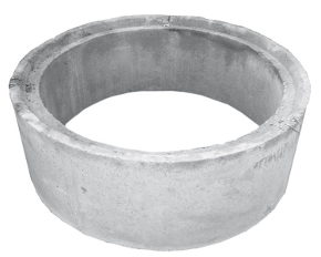 Krąg betonowy i żebetowy wibroprasowany - połączenie na felc